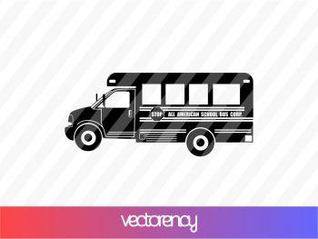 school bus svg cricut file vector