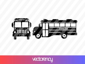 School Bus Vector Silhouette SVG