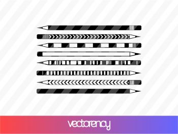 School Pencil Silhouette SVG