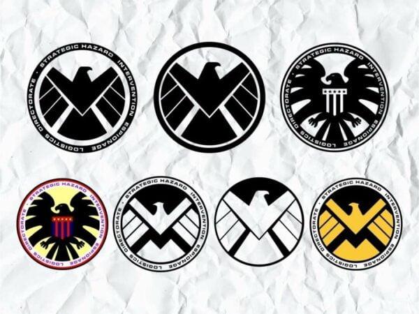 Shield Logo Marvel SVG