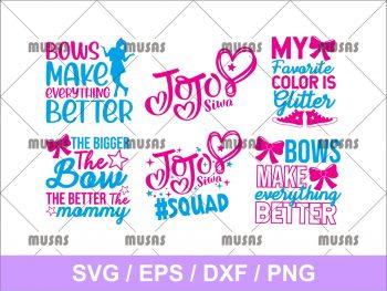 Squad Jojo Siwa SVG Bundle