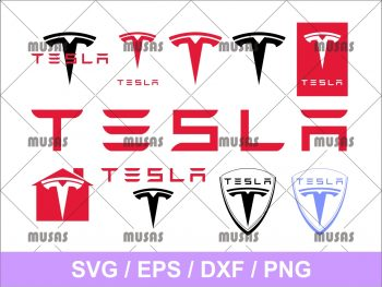 Tesla Logo SVG Bundle