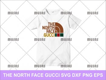 The North Face Gucci T Shirt Design SVG