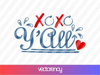 Xoxo Y'all SVG