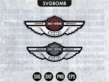 1903 2003 Motorcycle Harley Davidson SVG