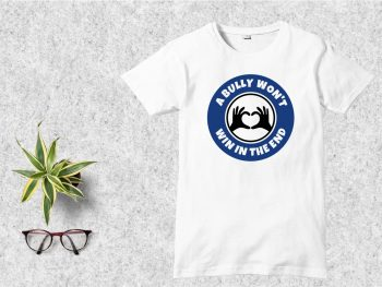 A Bully Won't Win In The End T Shirt Design SVG