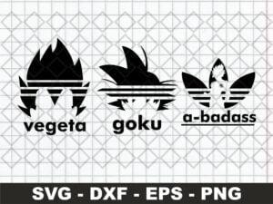 Adidas Parody Vegeta A-badass Goku SVG