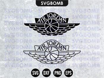 Air Dior Jordan Wings Basketball Logo SVG