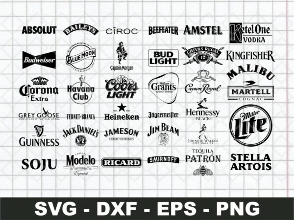 Alcohol Brands Vector SVG