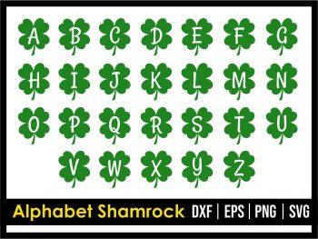 Alphabet Shamrock SVG