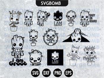 Baby Groot SVG