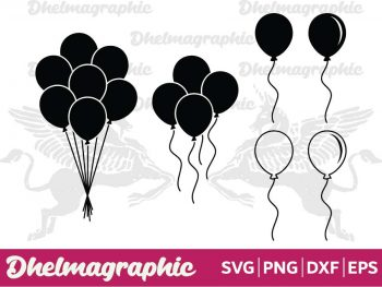 Balloon SVG PNG EPS DXF