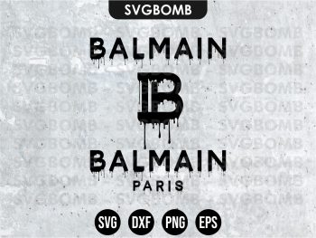 Balmain Drip Logo SVG