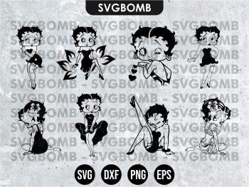 Betty Boop SVG