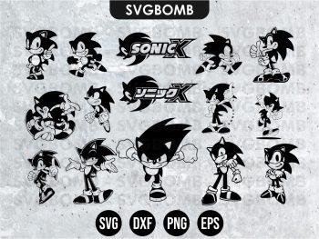 Black Sonic SVG