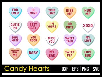 Candy Hearts SVG