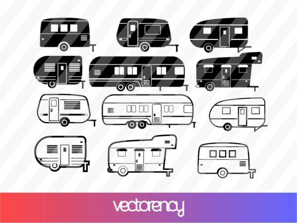 Caravan Camping SVG