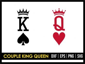 Couple King Queen SVG