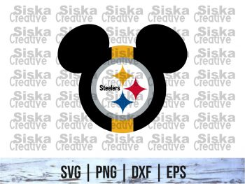 Disney Mickey Pittsburgh Steelers SVG