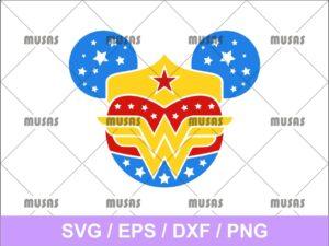 Disney Minnie Mouse Wonder Woman SVG