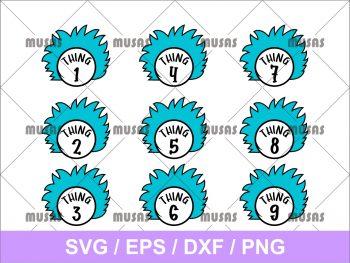 Dr. Seuss Thing 123456789 SVG