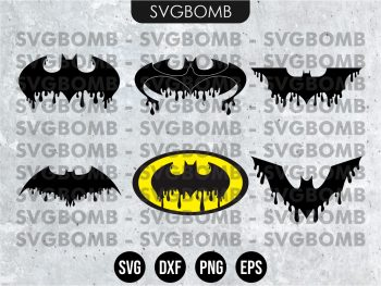 Dripping Batman Logo SVG