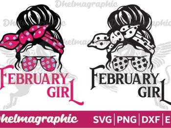 February Girl SVG