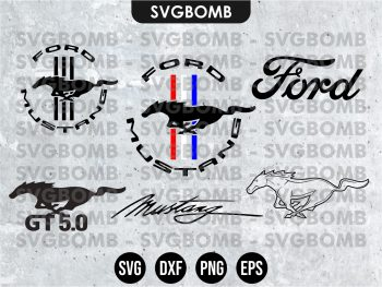 Ford Mustang SVG