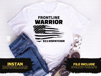 Frontline Warrior 911 Dispatcher T Shirt Design SVG