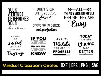 Growth Mindset Classroom Quotes SVG