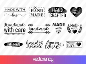 Hand Made Labels SVG