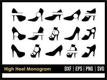 High Heels Monogram SVG