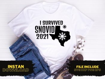 I Survived Snovid 2021 T Shirt Design SVG