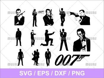 James bond 007 SVG