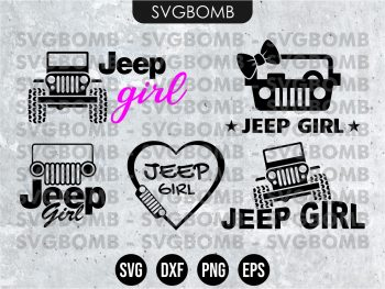 Jeep Girl SVG