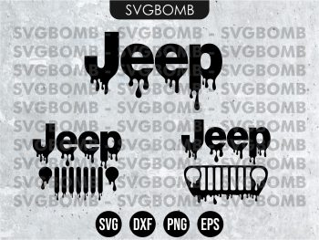 Jeep Logo Drip SVG