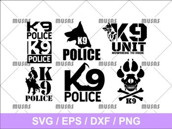 K9 Police SVG
