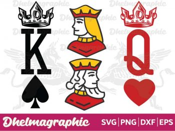 King and Queen Couple SVG
