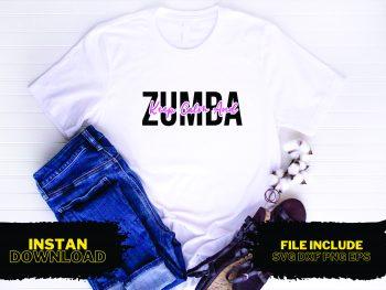 Keep Calm and Zumba T Shirt Design SVG
