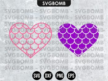 Mermaid Heart SVG