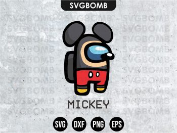 Mickey Mouse Among Us SVG