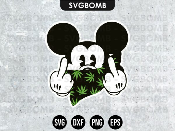 Mickey Mouse Cannabis SVG