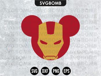 Mickey Mouse Iron Man SVG