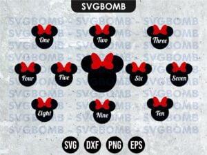 Minnie Mouse Birthday SVG