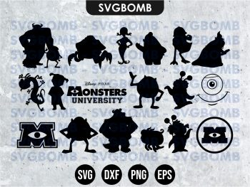 Monsters Inc Silhouette SVG