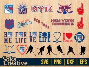 NHL Hokey New York Rangers SVG