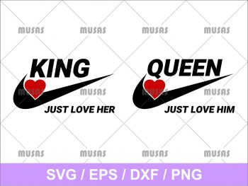 Nike King and Queen SVG