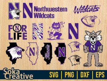Northwestern University Football SVG Bundle