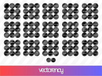 Pantry Labels SVG
