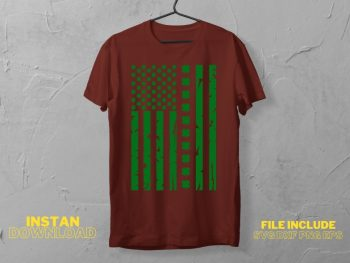 Patrick American Flag T Shirt Design SVG